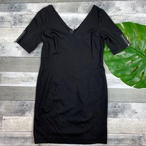 Banana Republic black short sleeve dress